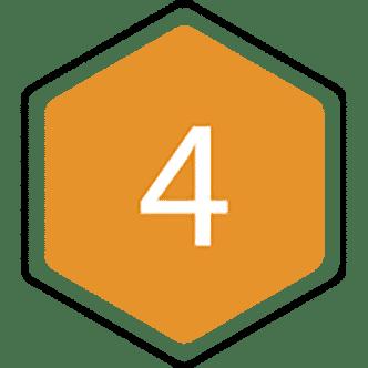4 bijenraat icoon