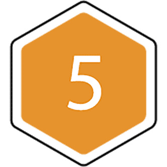 5 bijenraat icoon