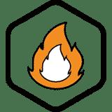 Verwarmen-icon