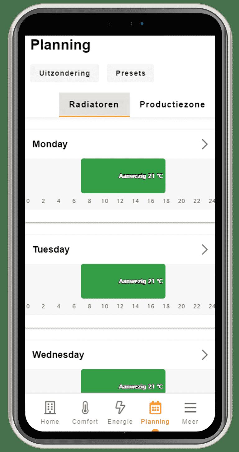 Tijdsplanning MyBMS app