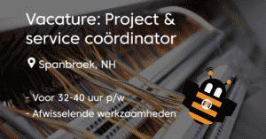 vacature project en service coördinator